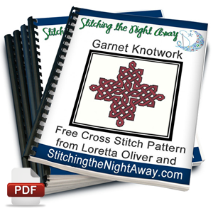 Garnet Knotwork Celtic Cross Stitch