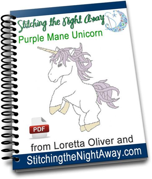 purplemaneunicorncrossstitchcover
