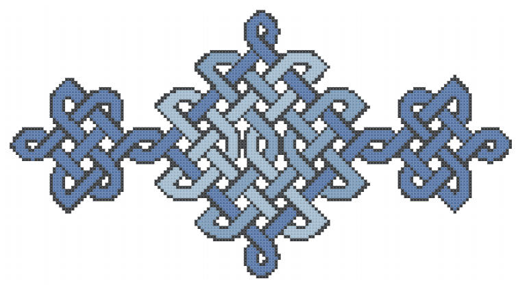 Delft Blue Knotwork free cross stitch pattern