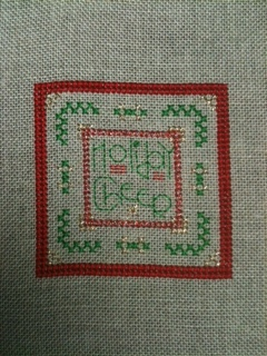 Laurels Holiday Cheer Cross Stitch Ornament