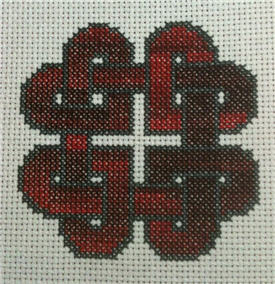 Laurels Knotwork Heart Cross Stitch