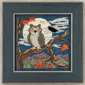 Night Owl Cross Stitch Kit from Mill Hill