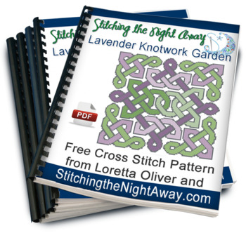 Lavender Knotwork Garden free cross stitch pattern