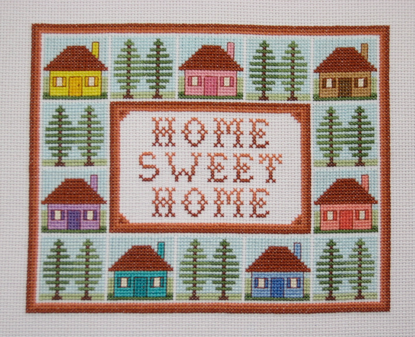 pics for cross stitch home sweet home pattern free
