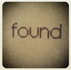 found-stitched-word