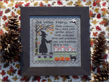Old Witch Mary Halloween Cross Stitch Design by Lila's Studio