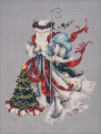 Winter-White-Santa-Cross-Stitch-Mirabilia