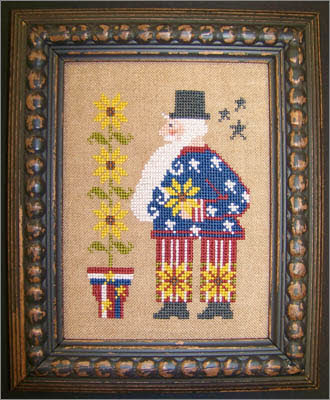 Sunflower Sam Cross Stitch Pattern designed by The Sunflower Seed