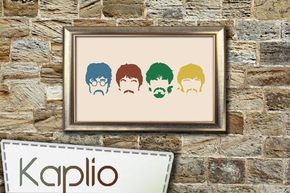 The-Beatles-Cross-Stitch-Pattern-Kaplio-on-Etsy