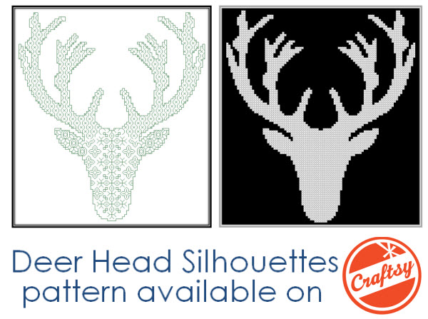 deer cross stitch and blackwork patterns