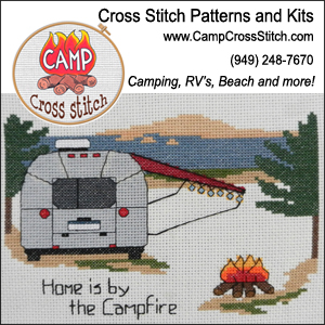 Camp Cross Stitch ~ Camping Themed Cross Stitch Patterns and Kits