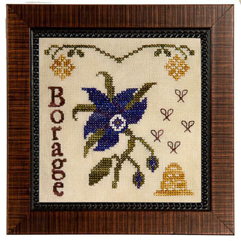 Fairest Flowers - January - Borage by Cherished Stitches