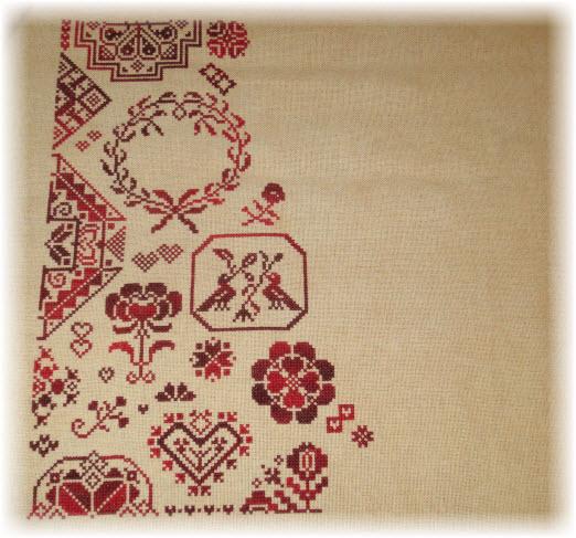 My Token of Love Stitching Progress