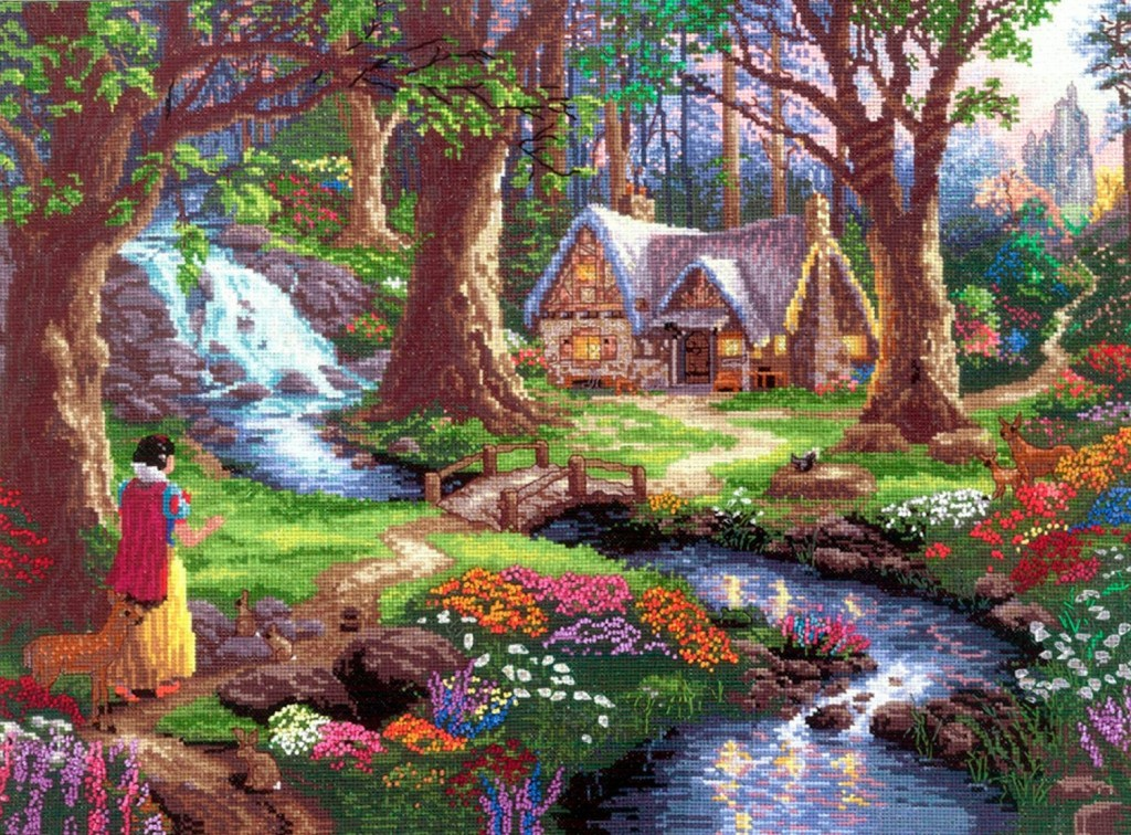 Snow White Discovers (Disney Dreams Collection by Thomas Kinkade) from M C G Textiles