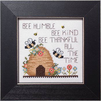 Bee Thankful Cross Stitch Pattern by Stoney Creek