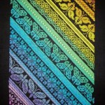 Twisted Rainbow Sampler cross stitch pattern by Northern Expressions Needlework