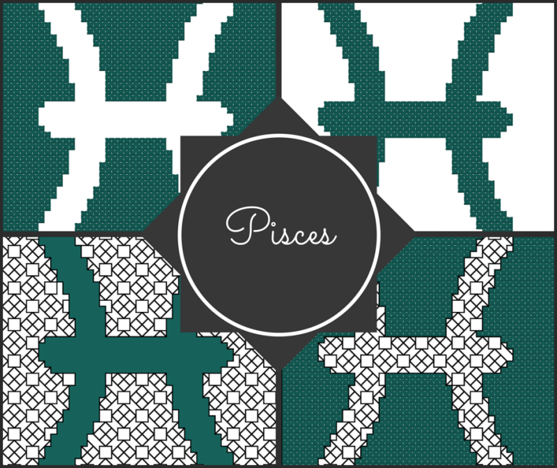 Pisces zodiac cross stitch patterns