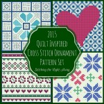 Quilt Inspired Cross Stitch Ornament Pattern Set