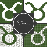 Taurus Zodiac Pattern Blocks